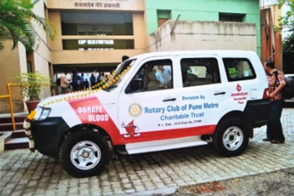Donated Vehicle to Janakalyan Blood bank